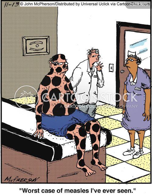 measles cartoon