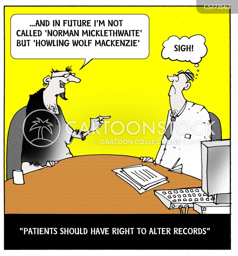 keeping records cartoon