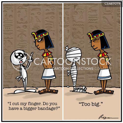 mummified cartoon