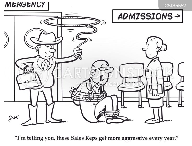 Medical Sales Rep Cartoon 1 Of 2
