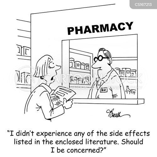 side effect cartoon