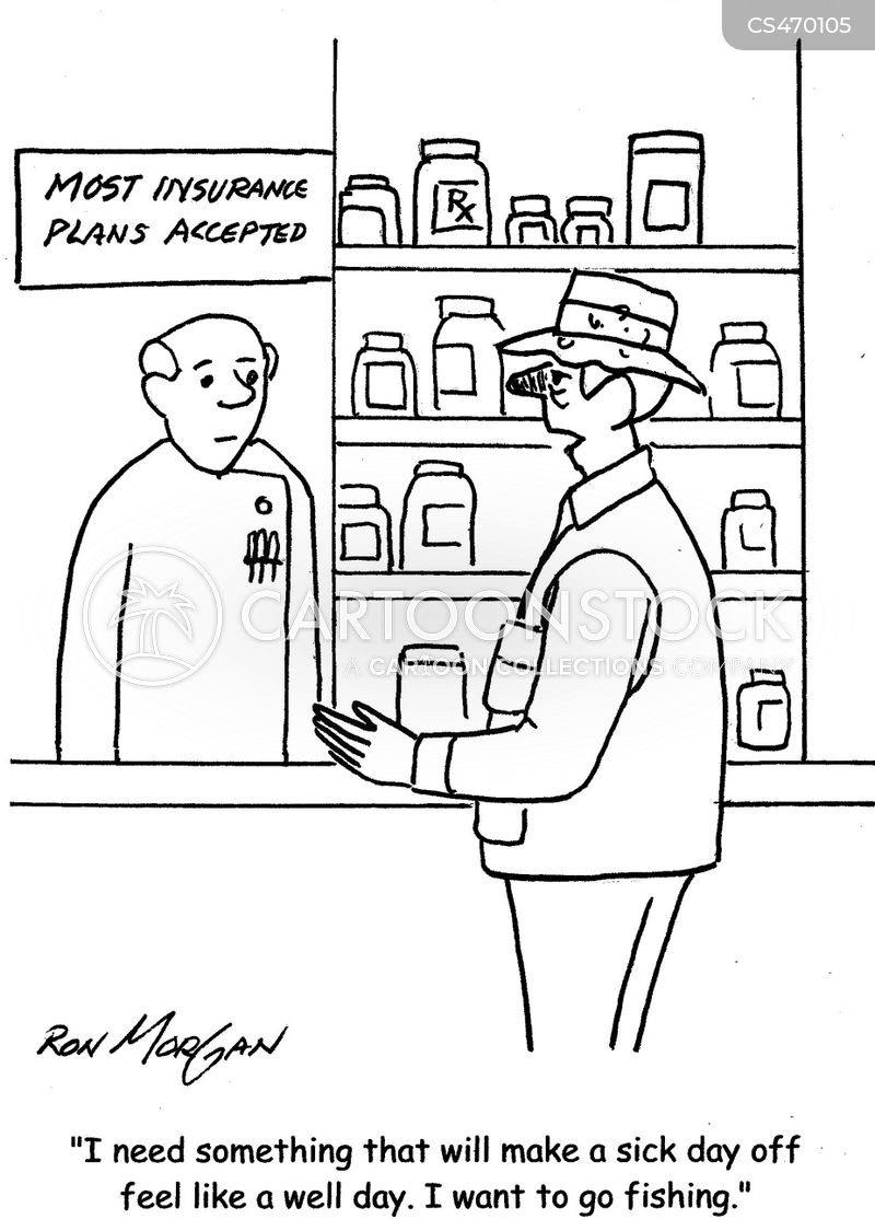 flu treatment cartoon