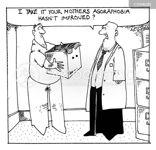 agoraphobia cartoon