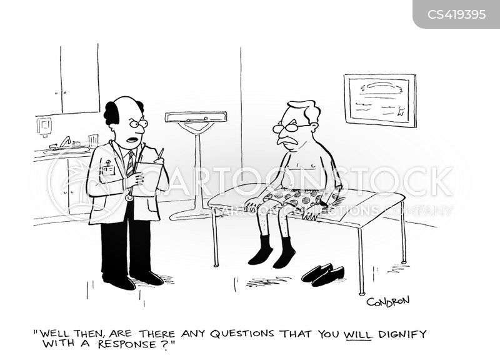 physical examination cartoon