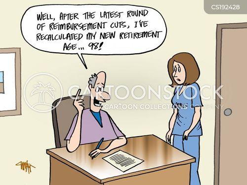 retirement ages cartoon