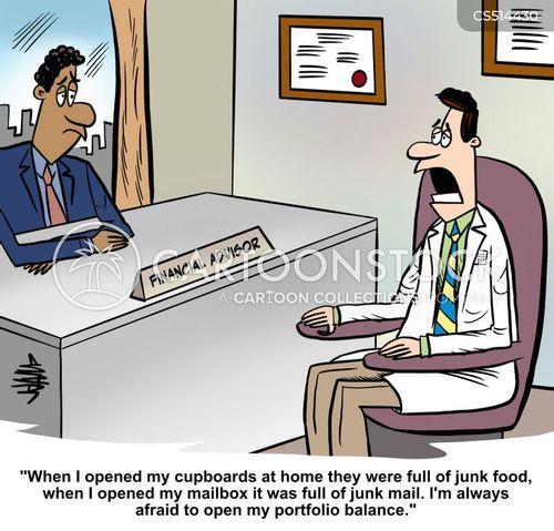 financial health cartoon