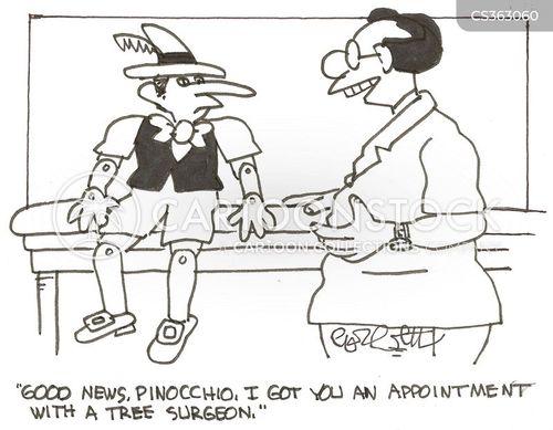 wooden puppet cartoon