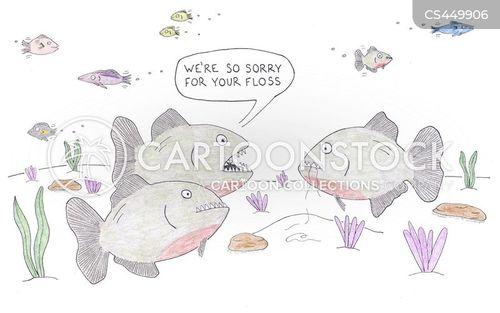 piranhas cartoon