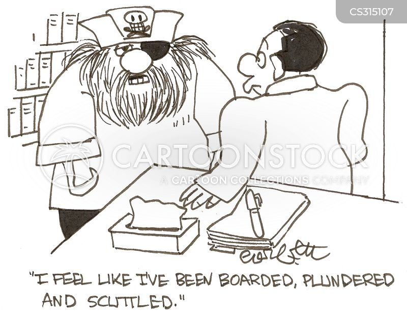 plundering cartoon