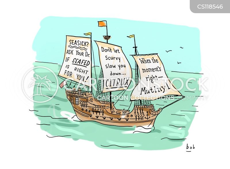 seasick cartoon