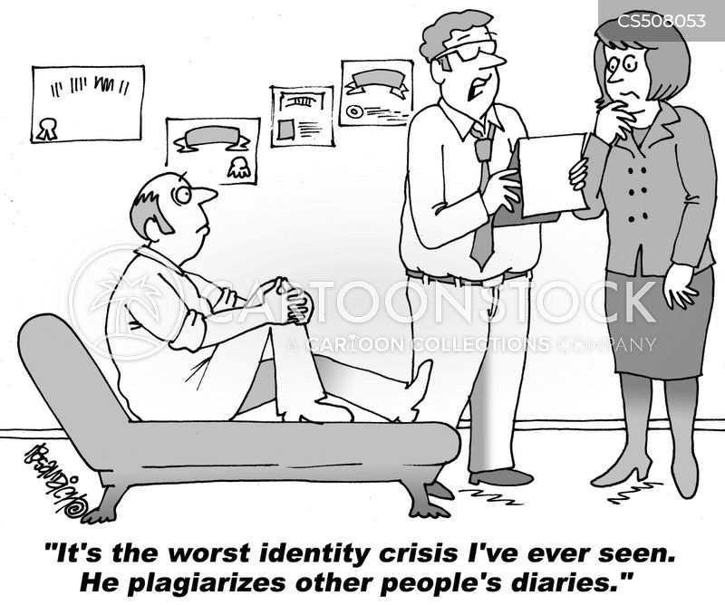 identity issues cartoon