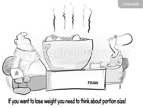 portion size cartoon