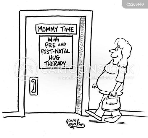 pregnant women cartoon