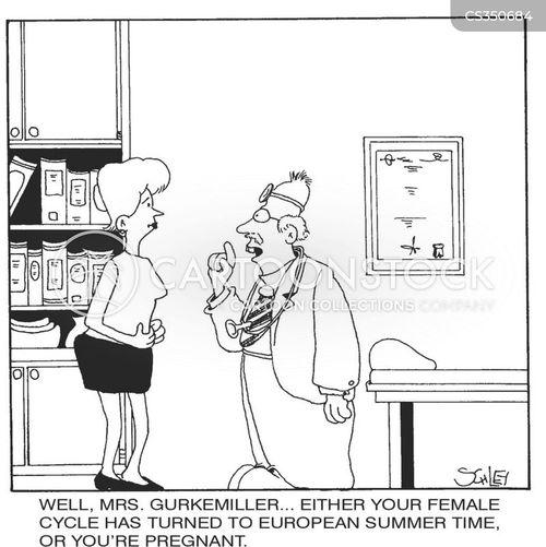 menstrual cycle cartoon