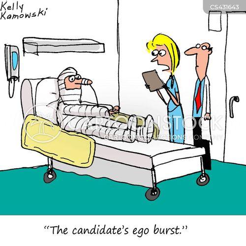 inflated ego cartoon