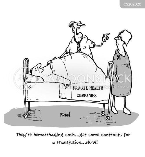 hemorrhaging cartoon