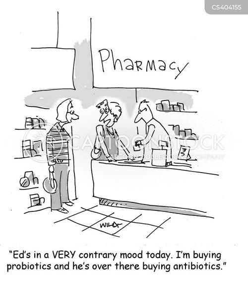 probiotics cartoon