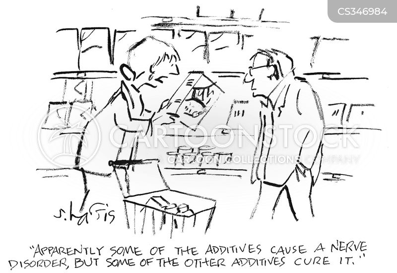 nerve disorder cartoon
