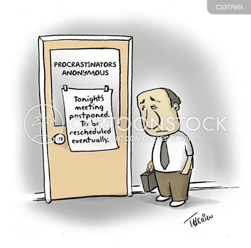 postponed cartoon