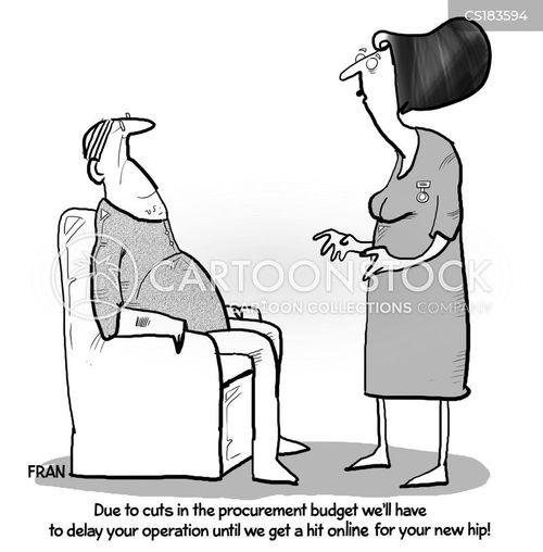 hip replacements cartoon