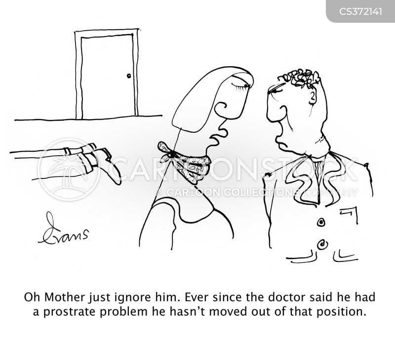 prostrated cartoon