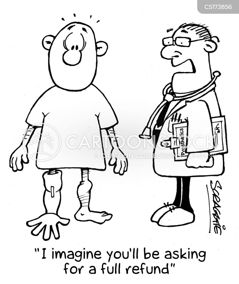 prostheses cartoon