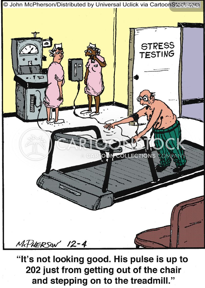 treadmills cartoon