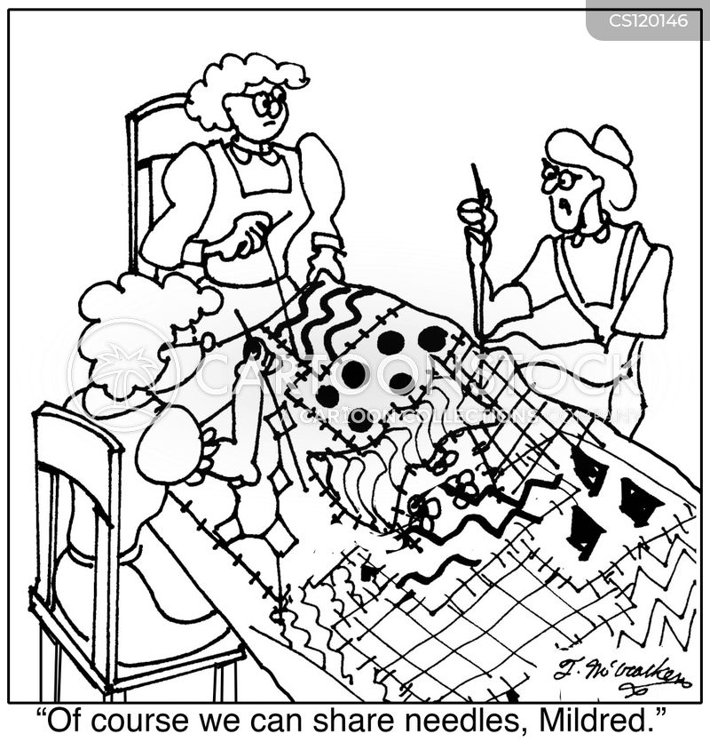 Quilting Cartoons And Comics Funny Pictures From Cartoonstock