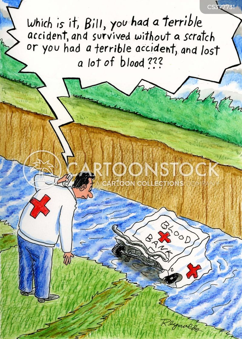 blood transfusions cartoon