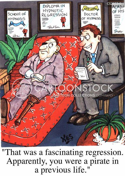 regressions cartoon