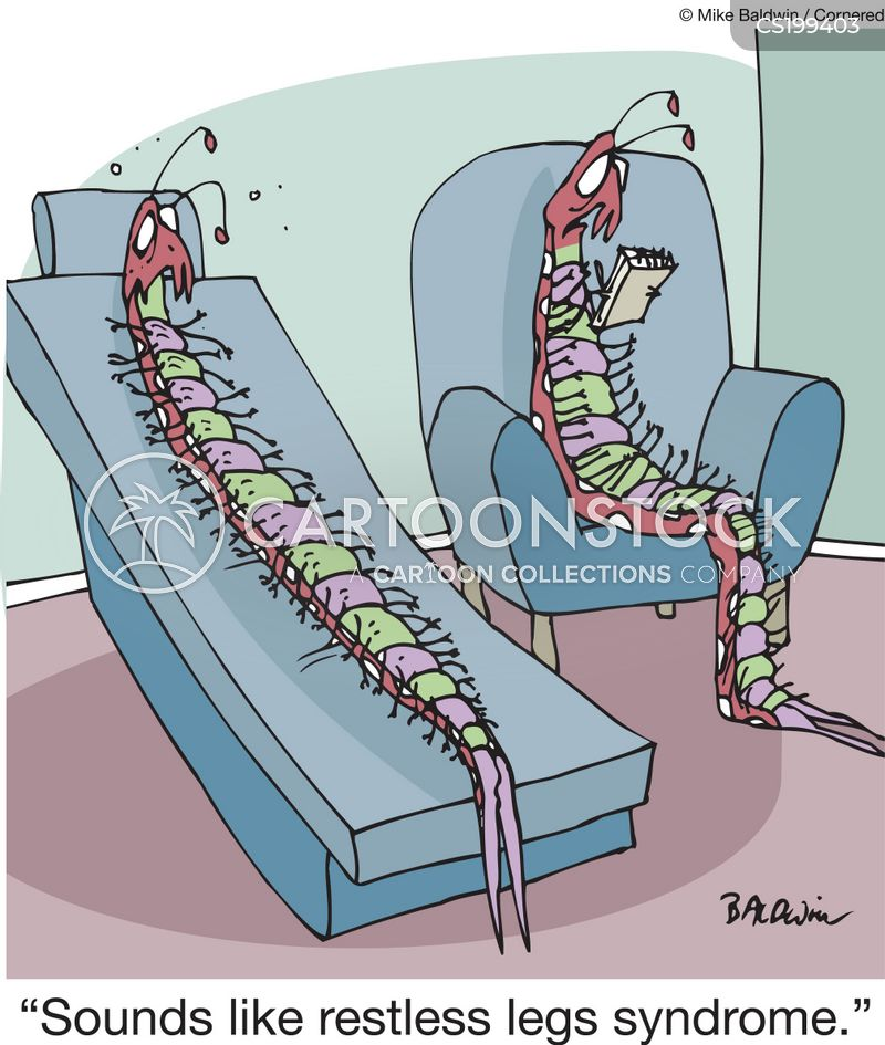 restless leg syndrome cartoon