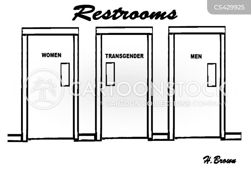public restrooms cartoon