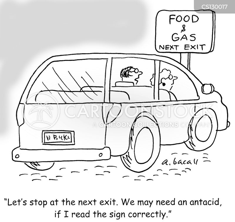 car journey cartoon