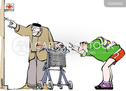 elderly men cartoon