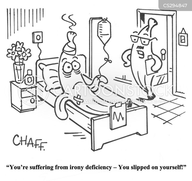 iron deficiencies cartoon