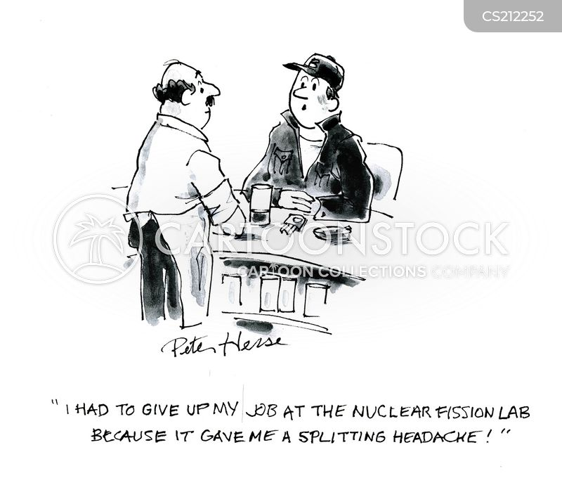 splitting headache cartoon