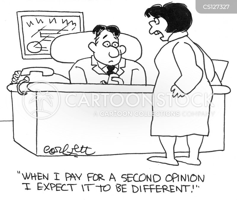 different opinion cartoon