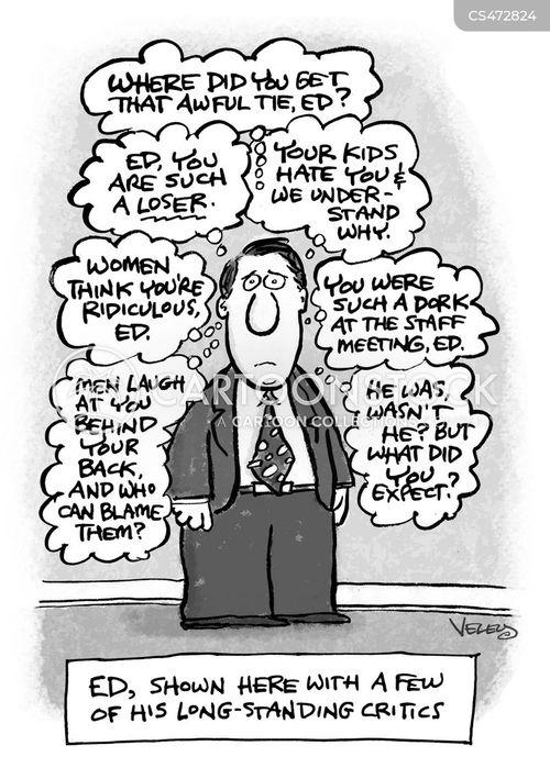 self loathing cartoon