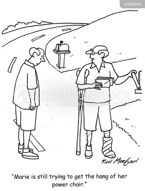 crutch cartoon