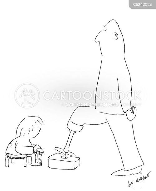false limbs cartoon