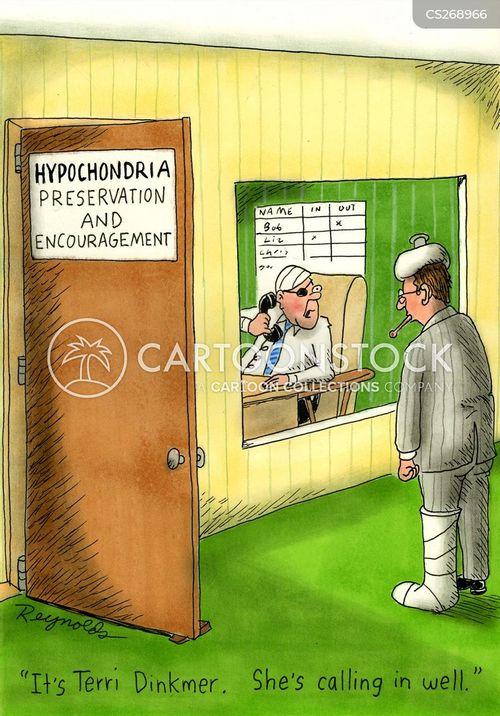 call in sick cartoon