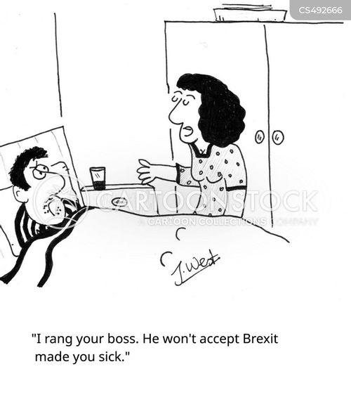medical leave cartoon