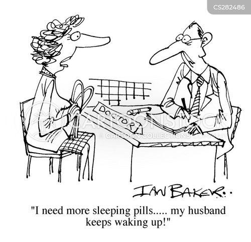 sleeping pill cartoon
