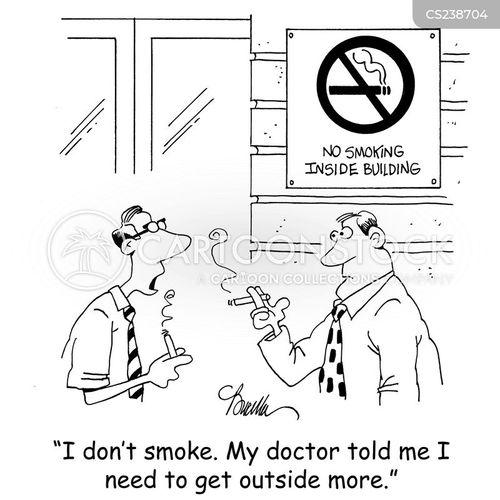 smoking break cartoon