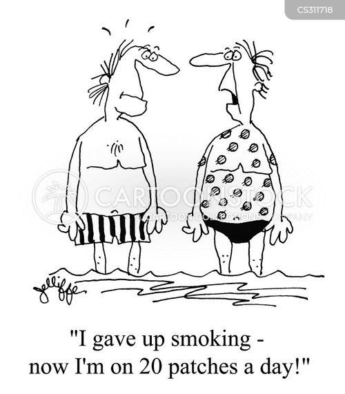 giving up smoking cartoon