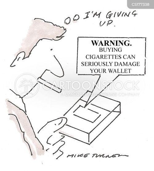 give up smoking cartoon