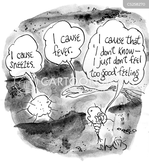 cold germs cartoon