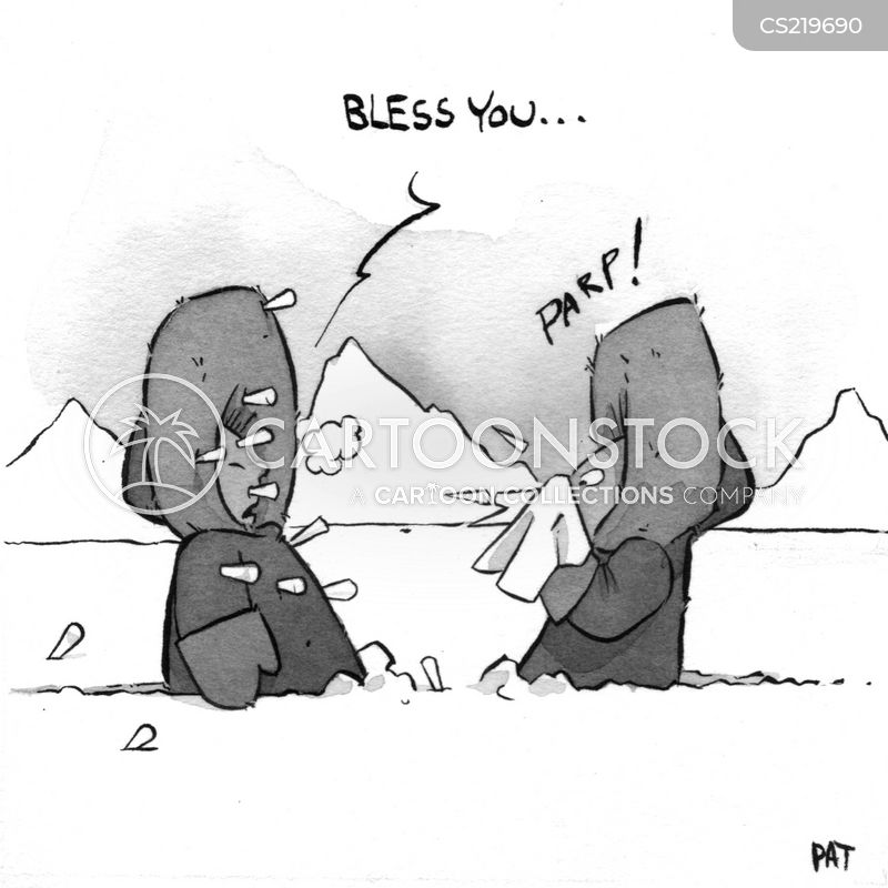 flu viruses cartoon