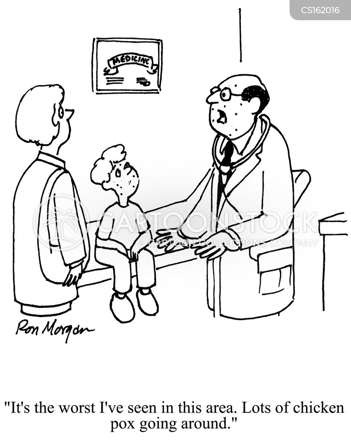 childhood disease cartoon