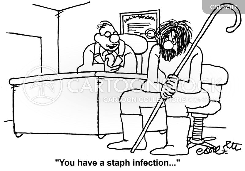 staph infections cartoon